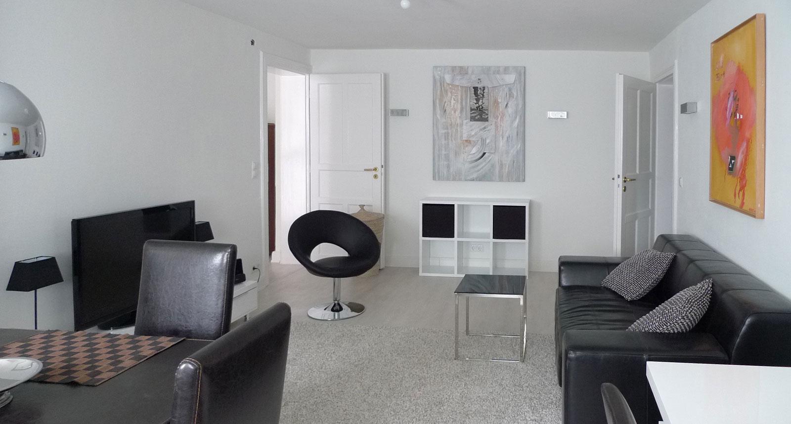 1 1/2 Zi.- Souterrain-Wohnung in der Hochallee - Wohnraum nachher