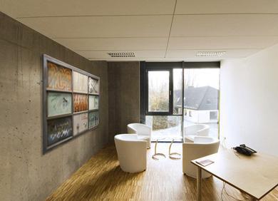 Büroraum mit Kunst - BIldflächen