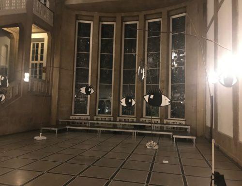 Raumgestaltung für ein Chorkonzert an der HfBK-Hamburg